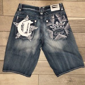 Men's COOGI shorts embroidered pockets 36